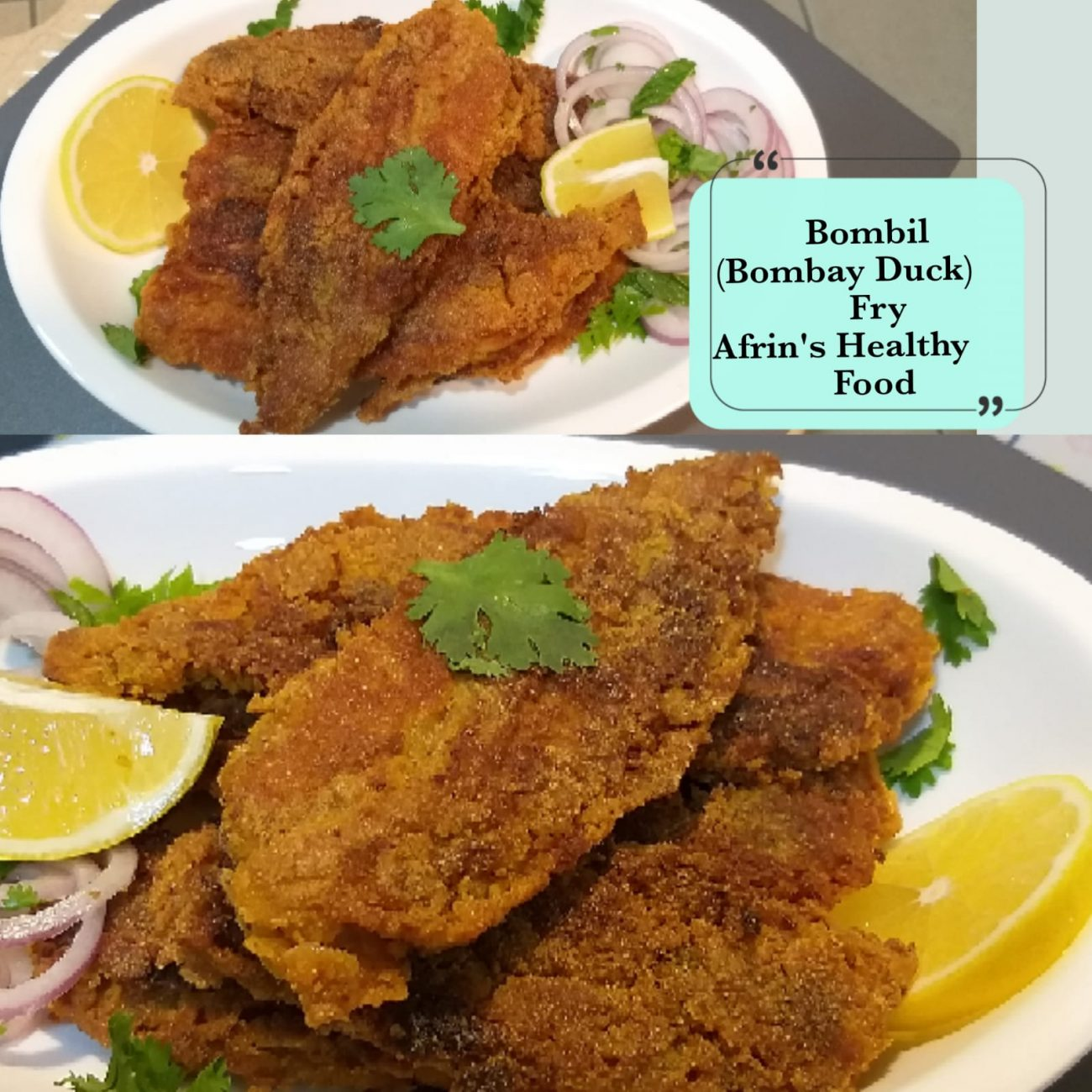 Bombil Fry – Spicy, crisp and extremely tasty are these fried Bombay ducks or bombils.